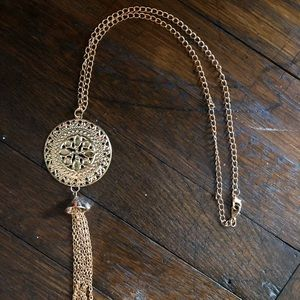 Medallion Tassel Necklace